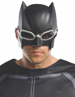 Tactical Batman™-Maske Justice League™ Faschingsmaske schwarz-silber