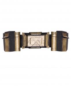 Batman™-Gürtel Justica League™ Kostüm-Accessoire schwarz-gold