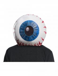 Halloween-Maske Auge weiss-blau-rot