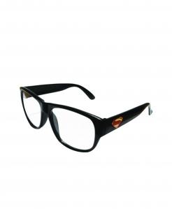 Clark Kent™-Brille Kostüm-Accessoire schwarz