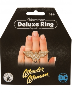 Wonder Woman™-Ring für Damen Karnevals-Accessoire gold
