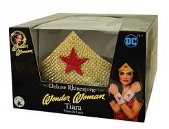 Wonder Woman™-Deluxediadem Kostüm-Accessoire gold-rot