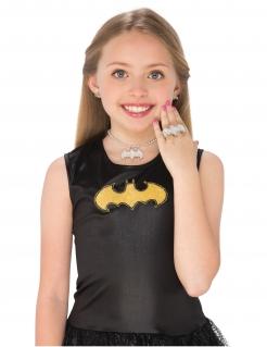Batgirl™-Schmuckset für Kinder 4-teilig silberfarben