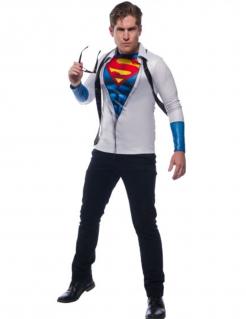 Superman™-Kostüm für Männer Faschingskostüm weiss-blau