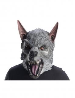 Offizielle Rampage™ Maske Ralph Wolfsmaske grau