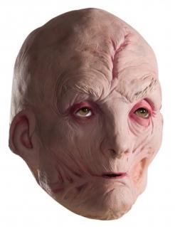 Oberster Anführer Snoke 3/4 Latexmaske für Erwachsene hautfarben-rot