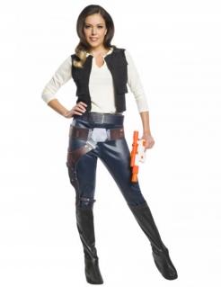 Han Solo™-Kostüm für Damen Star Wars™ Faschingskostüm blau-weiss-schwarz
