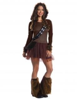 Chewbacca-Kostüm für Damen Star Wars™ braun