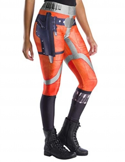 Star Wars™-Leggings X-Wing-Fighter für Damen orange-blau-silber