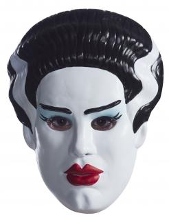 Frankensteins™ Frau-Maske für Damen weiss-schwarz-rot