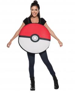 Lustiges Pokéball-Kostüm für Erwachsene rot-weiss-schwarz
