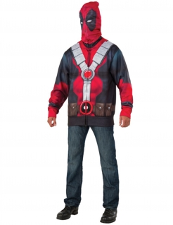 Deadpool™-Kapuzenjacke für Herren Marvel™ rot-schwarz-grau