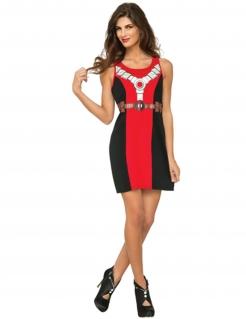 Deadpool™-Damenkleid Marvel™ rot-schwarz-weiss