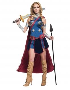Walküre™-Kostüm für Damen blau-rot