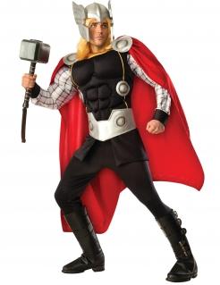 Thor™-Deluxekostüm für Herren Lizenzprodukt schwarz-rot-silber