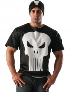 The Punisher™-T-Shirt und Mütze Lizenzware schwarz-weiss
