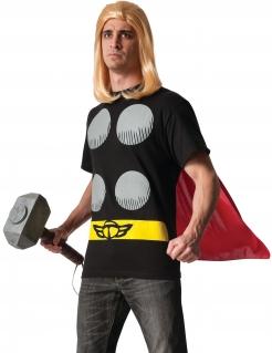 Thor™-T-Shirt mit Umhang Lizenzprodukt schwarz-gelb-rot
