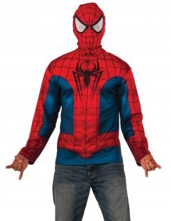 Spiderman™-Hoodie für Erwachsene Lizenzkostüm blau-rot