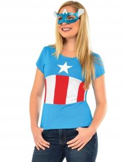 Captain America™-Kostüm für Damen American Dream blau-rot-weiss