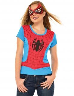 Spidergirl™-Damenkostüm Marvel™ blau-rot-schwarz