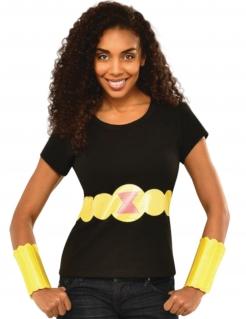 Black Widow™-Kostüm für Damen schwarz-gelb