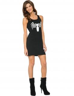 Venom™-Kleid für Damen Marvel™-Lizenzkostüm schwarz-weiss