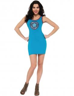 Captain America™-Kleid für Damen mit Strass Marvel™ blau-rot