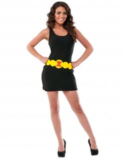 Black Widow™-Damenkostüm Faschingskostüm schwarz-gelb
