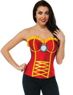 Iron Man™-Korsage für Damen rot-gelb-blau
