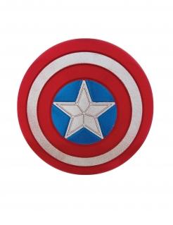 Captain America™ Schild mit Pailletten Accessoire blau-rot-weiss 30cm