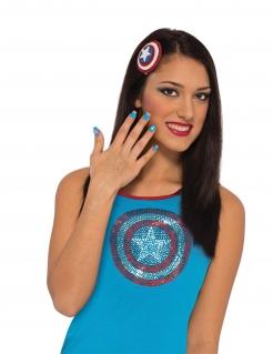 Captain America™-Schminkset 3-teilig blau-weiss-rot