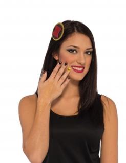 Black Widow™ Accessoire-Set 3-teilig schwarz-rot-gelb