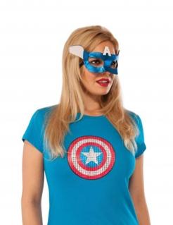 Captain America™-Augenmaske für Damen blau-weiss