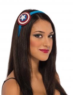 Captain America™-Haarreif für Damen Kostüm-Accessoire blau-rot-weiss