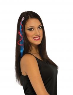 Captain America™-Extension für Haare Accessoire blau-rot