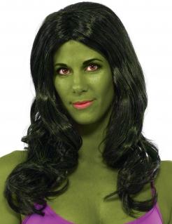 She Hulk™ Damenperücke dunkelgrün