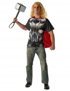 Thor™-Shirt mit Umhang für Herren Marvel™ grau-rot