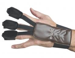 Hawk Eye™ Bogenhandschuh für Erwachsene braun-schwarz