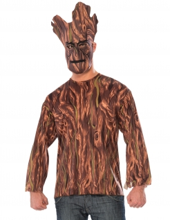 Groot™-T-Shirt und Maske Guardians of the Galaxy™ braun