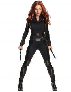 Black Widow™-Kostüm für Damen Captain America Civil War™ schwarz