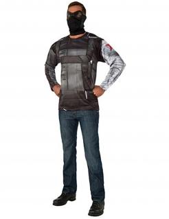 Winter Soldier™-Kostüm für Herren Captain America Civil War™ grau-schwarz