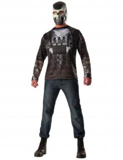 Crossbones™-Shirt und Maske für Herren schwarz-grau