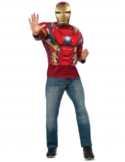 Iron Man™-Set für Herren Captain America Civil War™ Faschingskostüm rot-gold