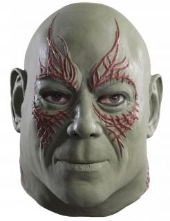 Drax der Zerstörer™-Latexmaske für Erwachsene grün-rot