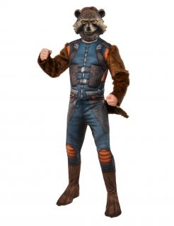 Rocket Raccoon™-Kostüm für Herren Guardians of the Galaxy Vol. 2™ blau-braun
