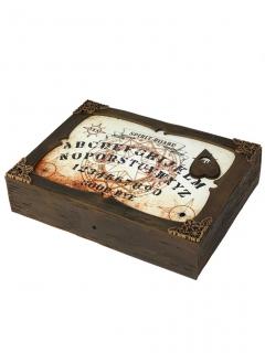 Ouija-Brett mit Ton und Licht braun-weiss 31x22cm
