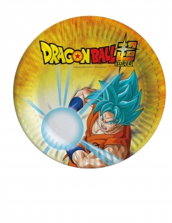 Dragon Ball Super™-Pappteller-Set 8 Stück bunt 18 cm