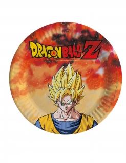 Dragon Ball Z™-Teller klein Tischdeko 8 Stück bunt 18cm