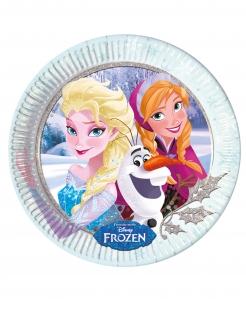 Frozen™-Pappteller Anna und Elsa Tischdekoration 8 Stück bunt 23cm