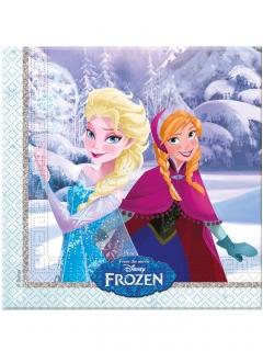 Frozen™-Servietten Tischdeko 20 Stück bunt 33x33cm